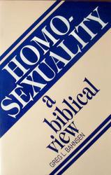 homosexuality a biblical view greg bahnsen